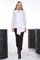 Ассиметричная белая рубашка женская