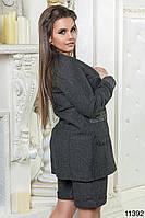 Костюм женский шорты и пиджак Серый
