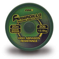 Шок лидер Fox Armadillo brown (20 м) CAC206 30lb
