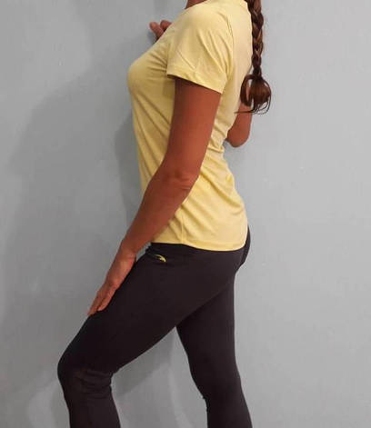 Комплект для фитнеса  женский Maraton  лосины и желтая футболка, фото 2