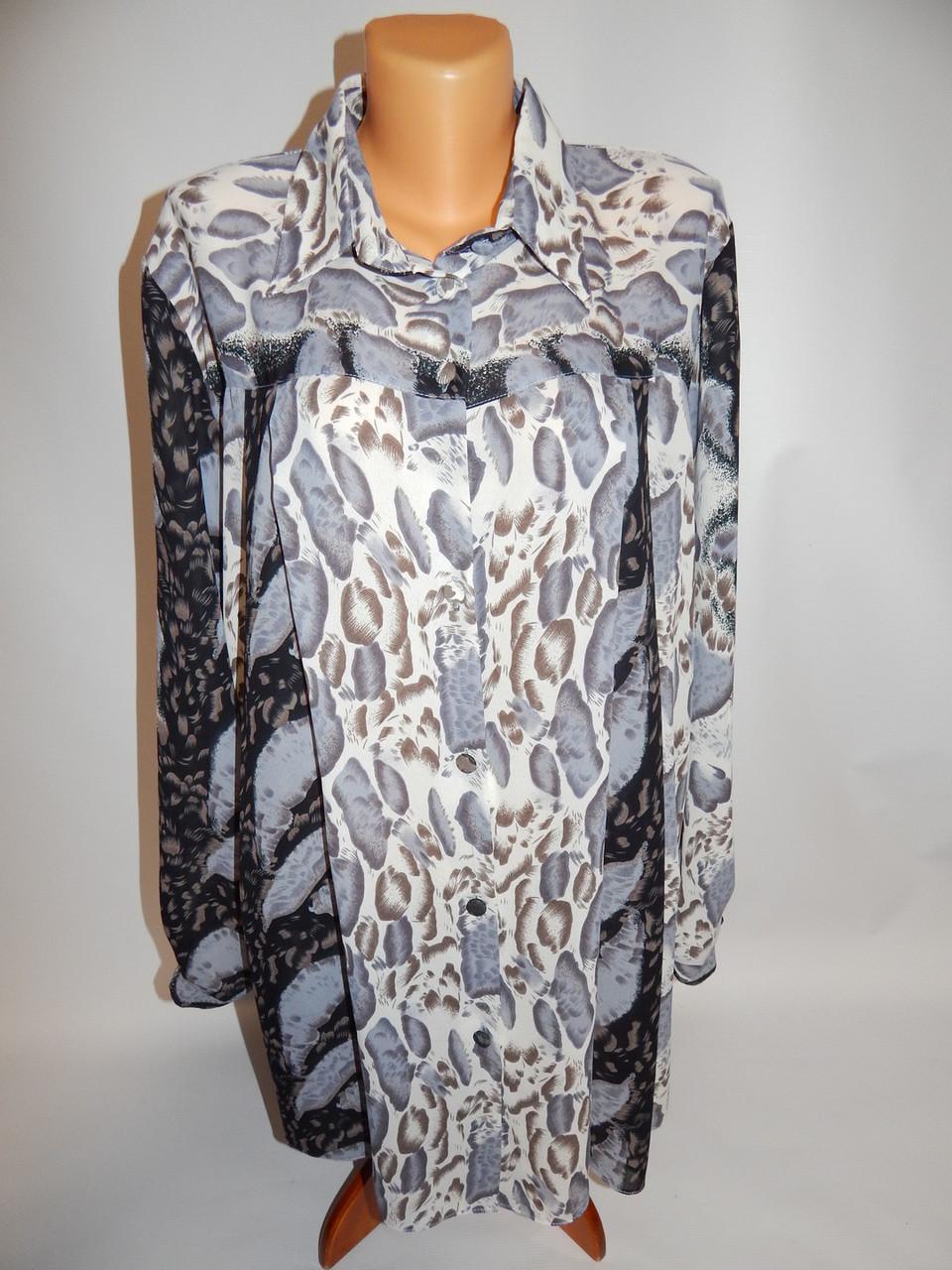 Блуза легкая фирменная женская  62-64 р.010рж