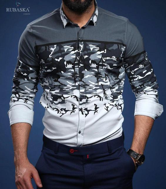 2f571c67b22 Оригинальная мужская рубашка серого цвета