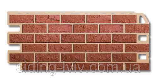 Фасадні панелі «Цегла червона» Альта Профіль цокольний сайдинг