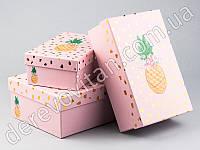 """Подарочные коробки """"Ананас"""", набор из 3 шт."""