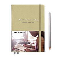 """Блокнот Leuchtturm1917 Memory Book 'Some lines a day"""" Средний (A5) Песочный (14,5х21 см) (355275), фото 1"""