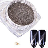 Магнитный порошок, пудра кочаший глаз, стальной серый блик, фото 1
