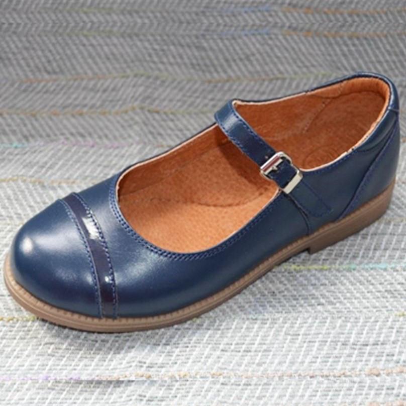 Синие туфли с застежкой, Eleven shoes размер 31 32 34