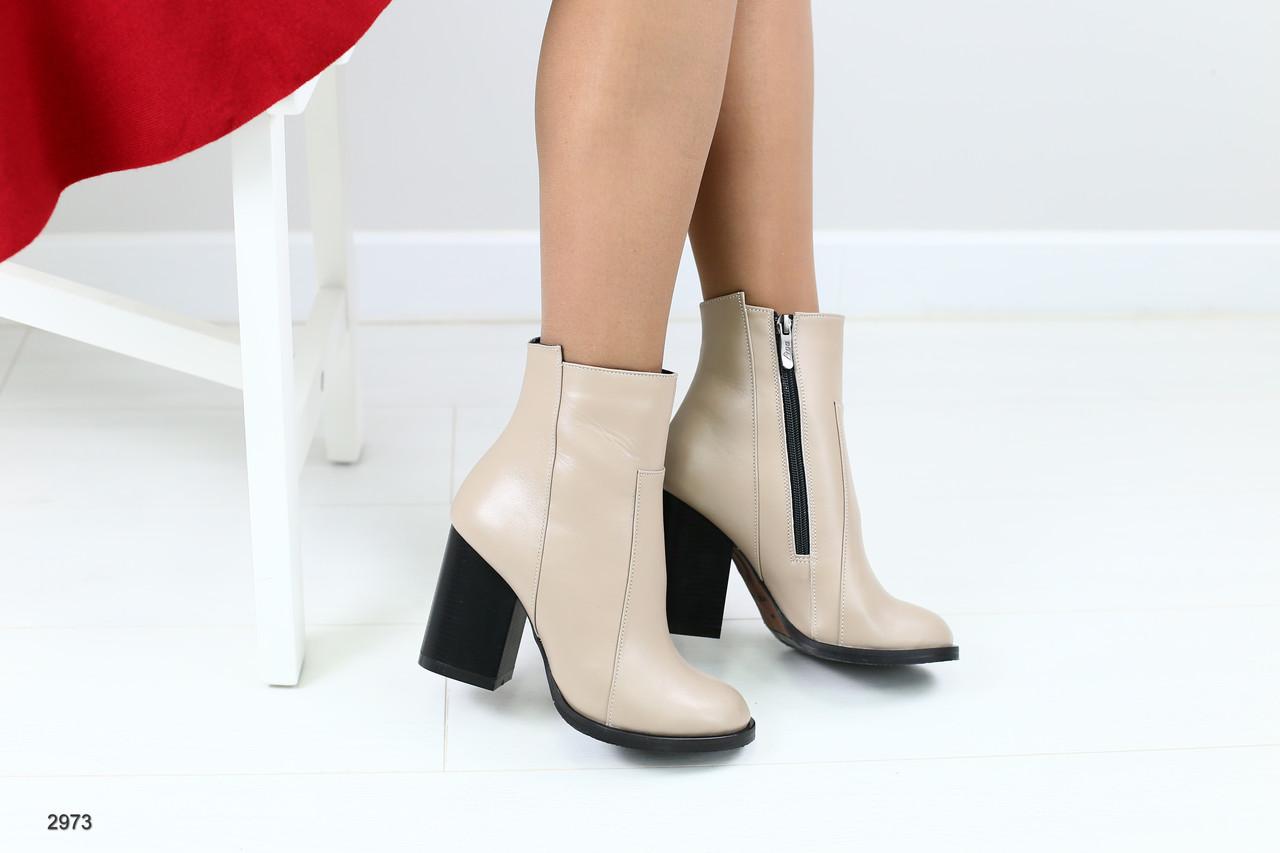 dbf8272a100e Женские кожаные ботильоны на каблуке - Интернет-магазин обуви Vzuto в  Чернигове