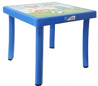 Детский столик Английский Алфавит синий (Papatya-TM)
