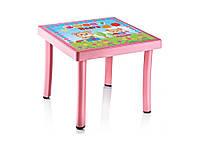 Детский столик Английский Алфавит розовый (Papatya-TM)