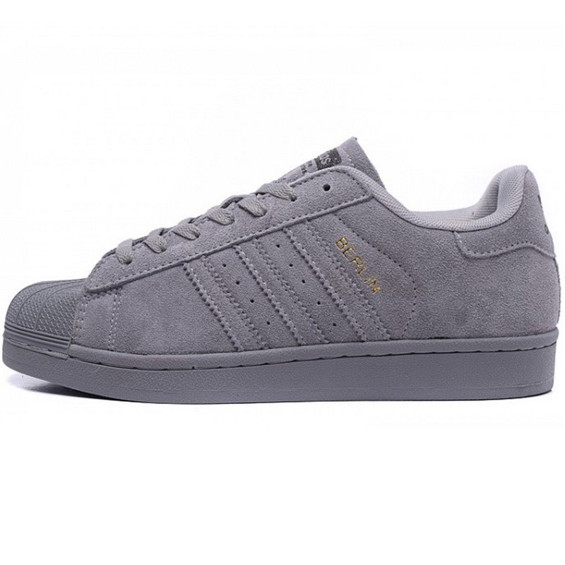 Кроссовки мужские Adidas Superstar City Series Berlin (серые) Top replic
