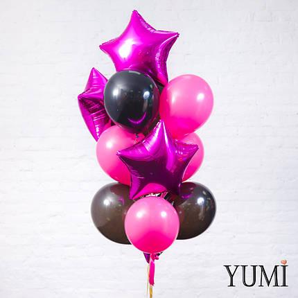 Стильная связка из 13 гелиевых шариков для девушки , фото 2