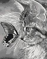 Рисование по цифрам (без коробки) Котенок и бабочка