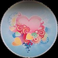 """Вафельная картинка """"Сердца № 1"""", диаметр 20 см"""