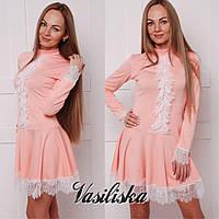 Нарядное короткое платье ан-02747-1
