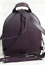 114 Натуральная кожа ультраматовая, Городской рюкзак, баклажан, фиолетовый, лиловый, фото 3