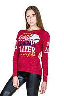 Яркий турецкий свитер Аида красный