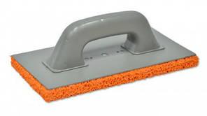 Терка малярная пластмассовая с оранжевой губкой для затирки штукатурок 130х270 мм