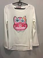 Подростковый реглан с совой для девочки 10 л, фото 1