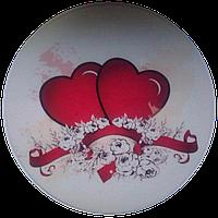 """Вафельная картинка """"Сердца № 3"""", диаметр 20 см"""