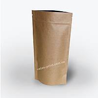 Пакет Дой-пак Крафт с Zip застежкой 140*240 (32+32), фото 1