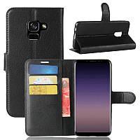 Чехол Samsung A530 / A8 2018 книжка PU-Кожа черный