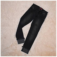 Модные джинсы детские серые на девочку размер 128 134 140 146 152