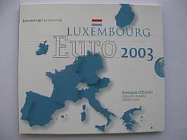 Люксембург официальный набор евро монет 2003 г.