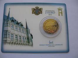 Люксембург 2 евро 2012 г. 100 лет со дня смерти герцога Вильгельма .