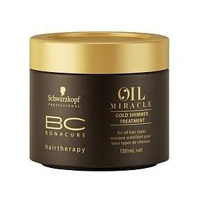 Зoлoтaя мacкa-блecк Schwarzkopf BC Oil Miracle Gold Shimmer 150 мл, фото 2