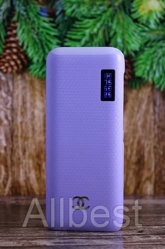 Внешний аккумулятор для заряда телефона Power Bank Повер Банк 22000 mah на 2 USB + LED дисплей + фонарик