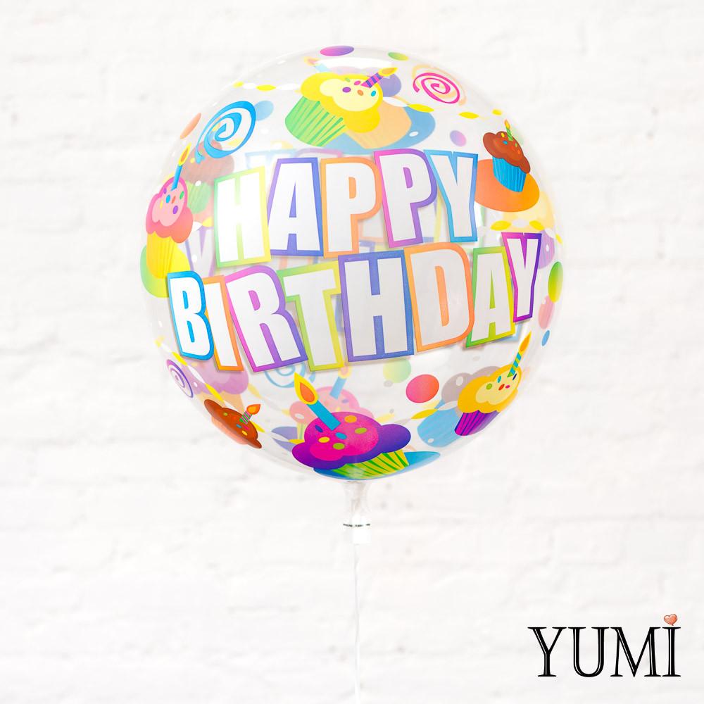 "Прозрачный шар с рисунком для ребенка с рисунком ""Happy Birthday"" кексы"
