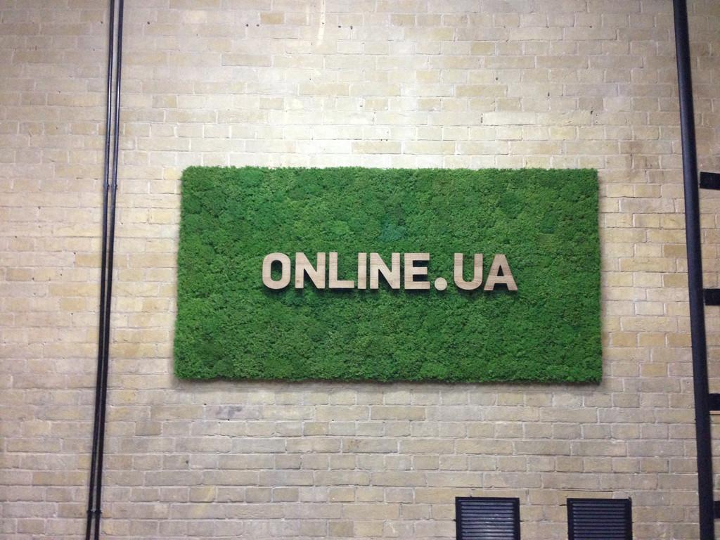 Создание вывески из стабилизированного мха. Online.UA
