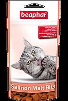 """Лакомство для кошек Витамины Беафар""""Malt Bits"""" 35г (вкус лосося) для выведения шерсти"""