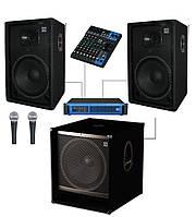 Комплект Sound Division DJ15-102-Sub15+ звукового оборудования для караоке, мощность 1000Вт