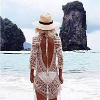 Женские пляжные туники с хлопкового кружева
