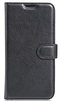 Кожаный чехол-книжка для Sony Xperia XZ F8332 черный