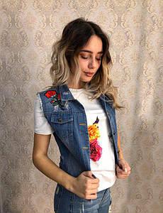 Женская джинсовая жилетка DB-5282