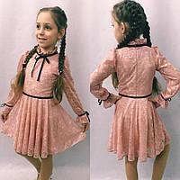 Детское платье из гипюра 116-134см. цвета в ассортименте, фото 1