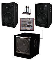 Комплект Sound Division SD DJ15A-Sub15+ звукового оборудования для караоке, мощность 1000Вт
