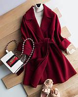 Женское весенне-осеннее пальто, бордо