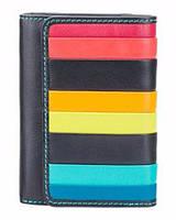 Женский кожаный кошелек Visconti STR-3 с RFID - Halki (black multi)