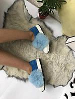 Женские кроссовки.Натуральная замша+натуральный мех(кролик)