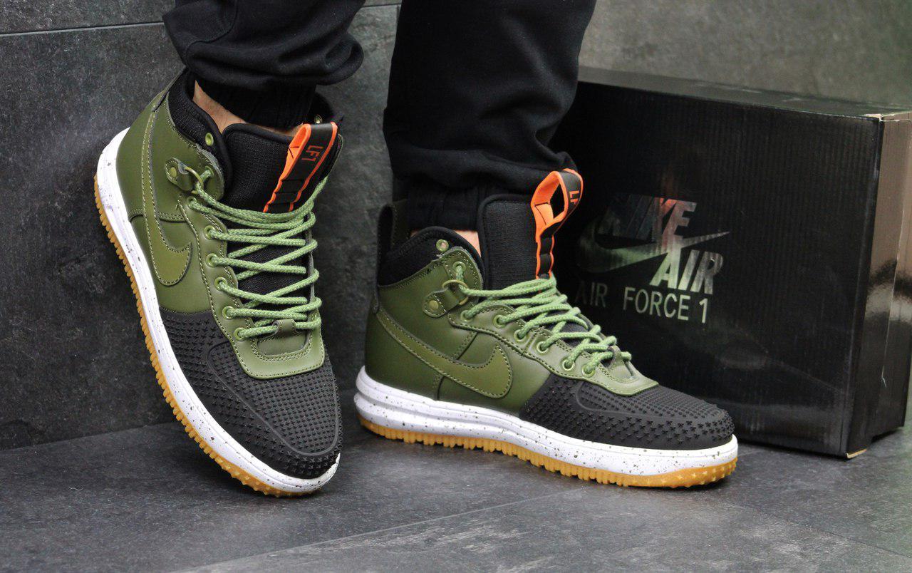Кроссовки мужские Nike Lunar Force LF-1 (зеленые), ТОП-реплика