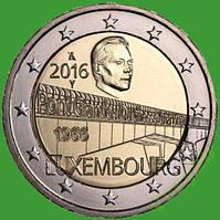 Люксембург 2 евро 2016 г. 50-летие моста великой герцогини Шарлотты . UNC