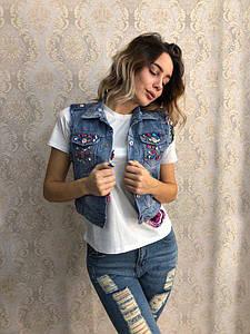 Женская джинсовая жилетка DB-5283