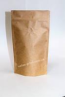 Пакет Дой-пак с дегазирующим клапаном и zip застежкой 1 кг Крафт 210*380 (55+55), фото 1