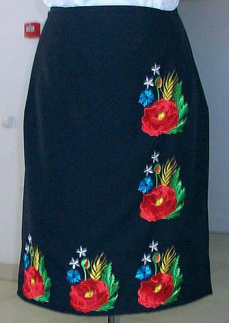 Юбка украинская вышитая (плахта с вышивкой Маки), фото 2