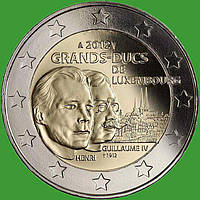 Люксембург 2 евро 2012 г. 100 лет со дня смерти герцога Вильгельма . UNC