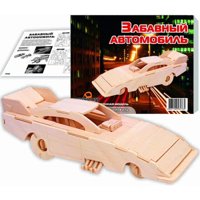 Збірна модель Світ дерев'яних іграшок Кумедний автомобіль П142